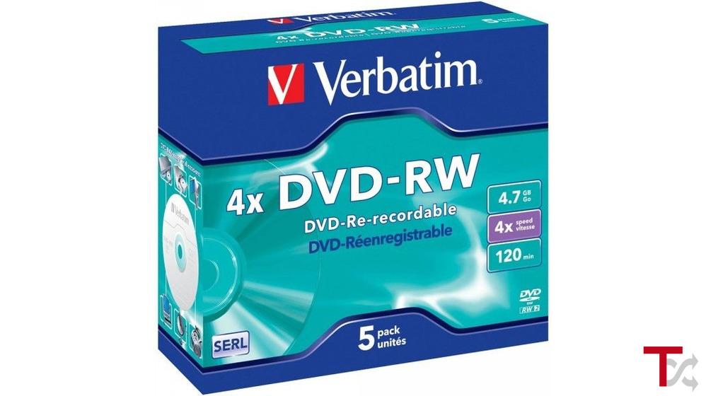 Verbatim DVD-RW 4.7GB 4X c/caixa Pack 5
