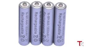 4x Pilhas AAA Recarregáveis 1800mAh Ni-MH