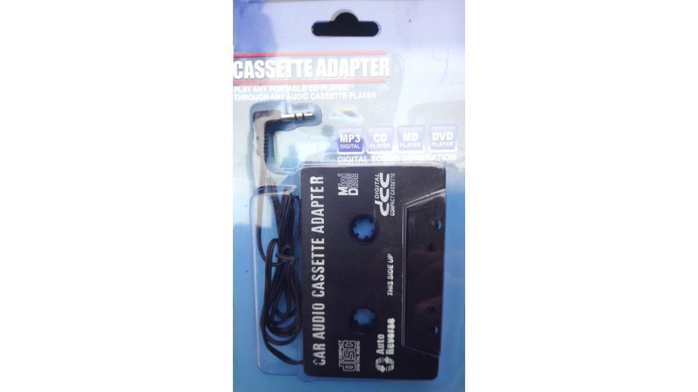 Adaptador cassete jack 3.5., auto radio, mp3, etc.