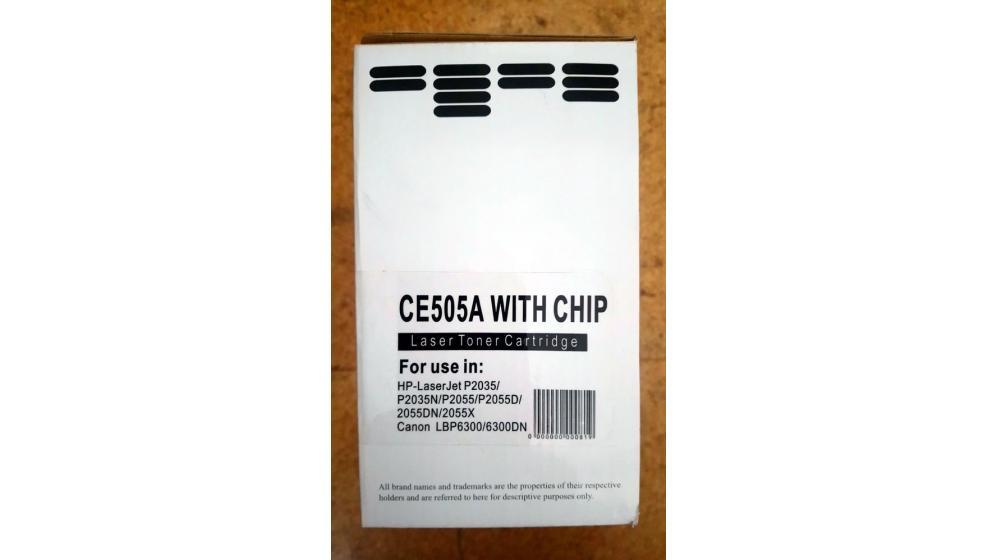 Toner impressora CE505A com chip HP Canon selado