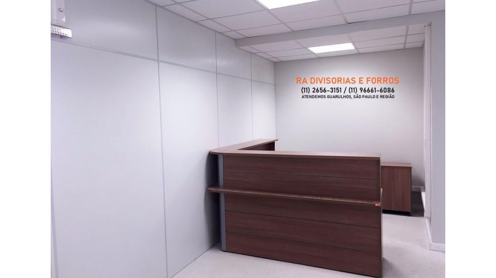 Divisórias Drywall em Guarulhos eucatex forro pvc isopor vidro madeira