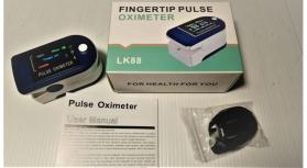 Oxímetro de dedo portátil visor LCD