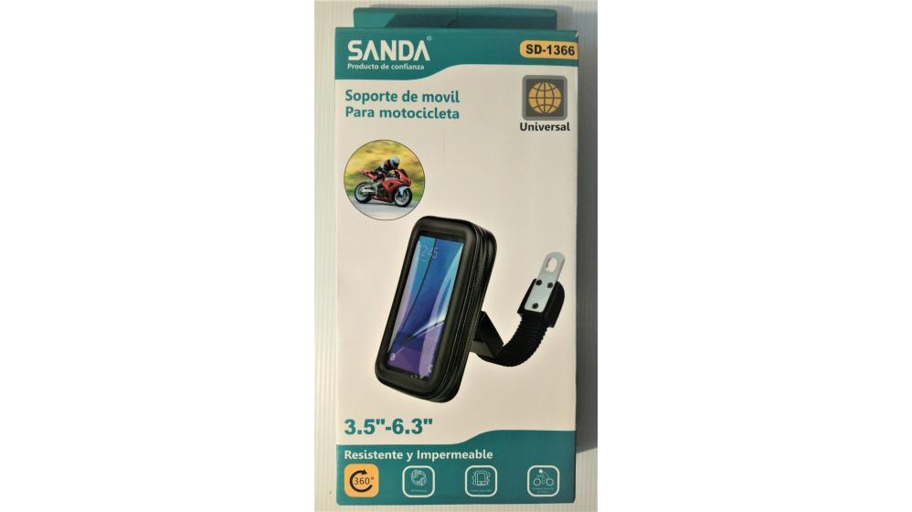 Suporte bolsa telemóvel mota scooter universal
