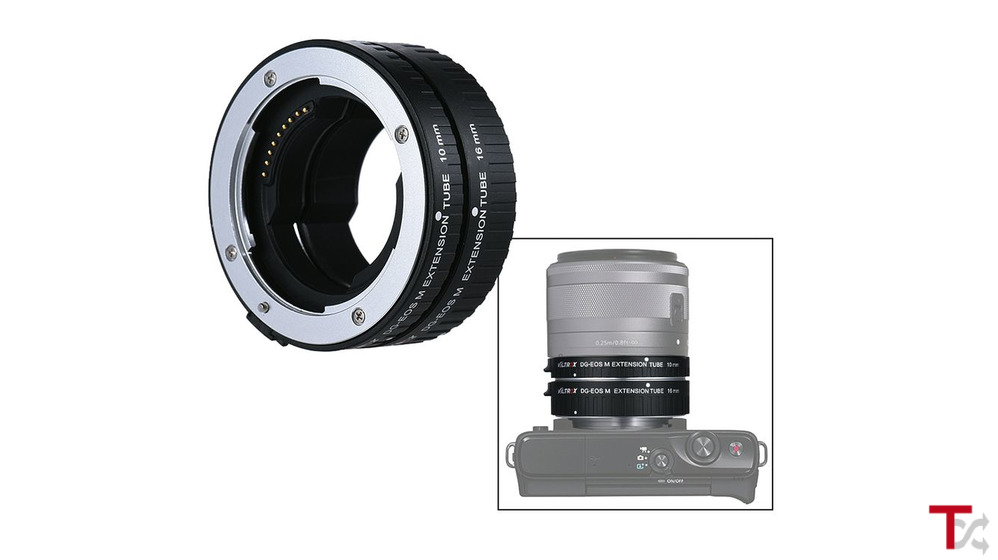 Tubo de extensão DG-EF-M Adaptador de lente de foco automático 10mm+16mm para Canon Série EF-M