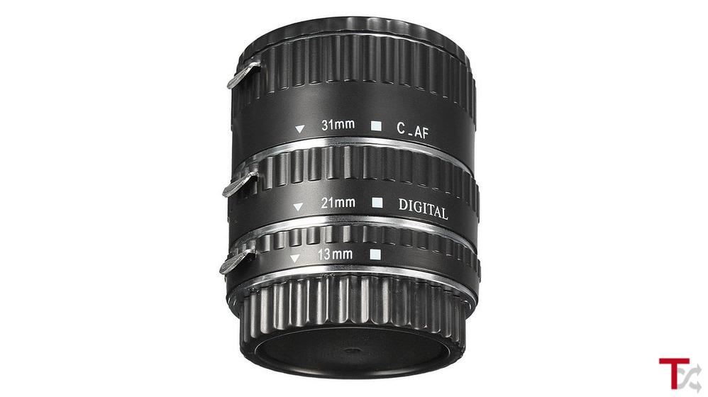 Tubo de extensão Macro AF Autofoco 13mm + 21mm + 31mm para Canon