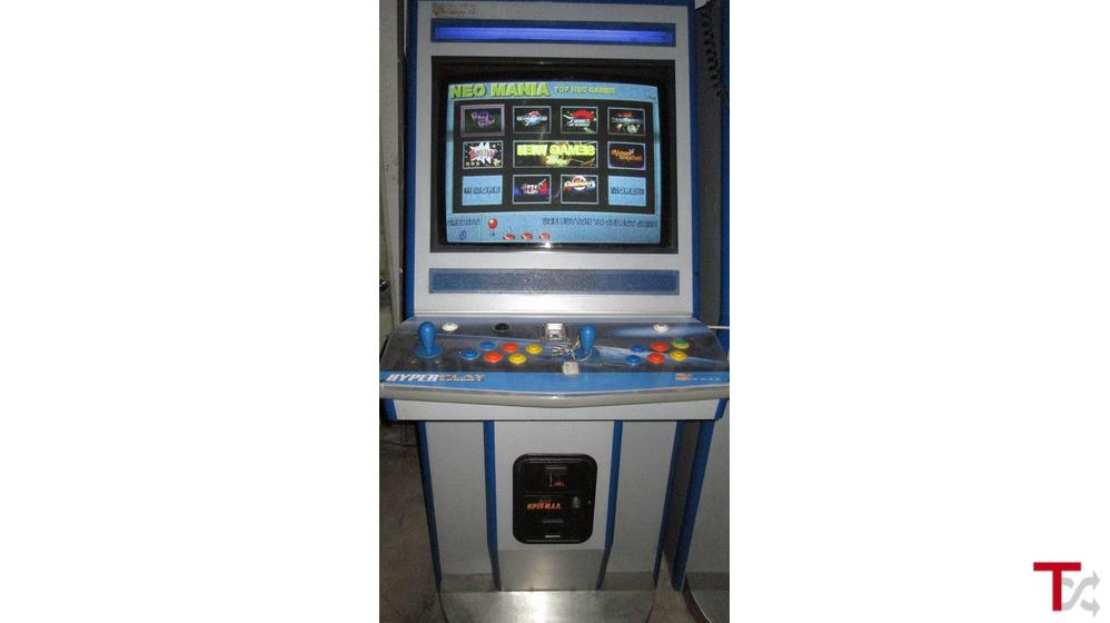 Máquina jogos arcade como nova