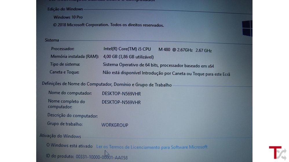 Portátil HP Probook Core i5 Windows 10 64-Bits Pro