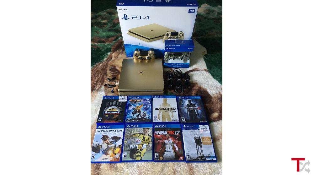novo Sony PS4 Pro 1TB Console com 8 jogos €150 euros