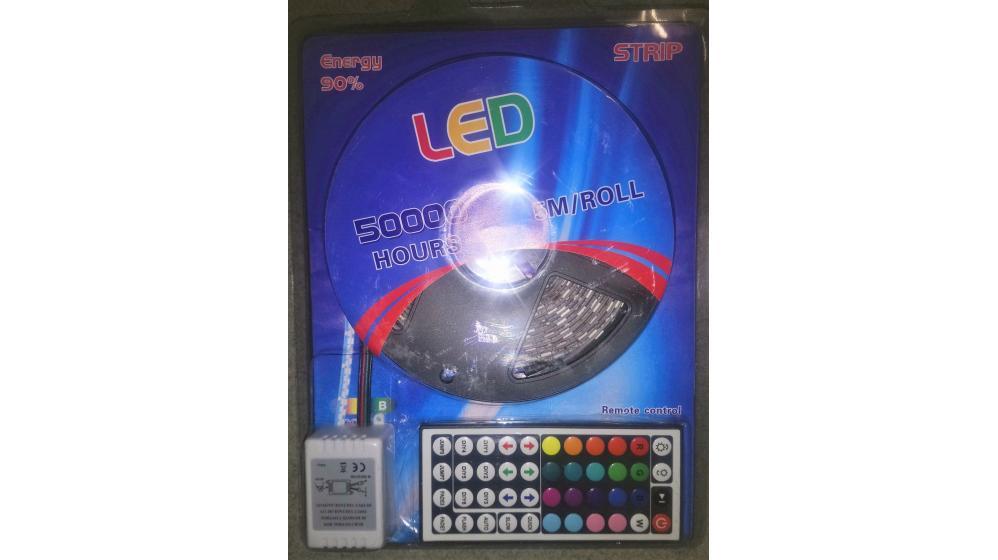 Fita led cores decoração 5 mts c. remoto
