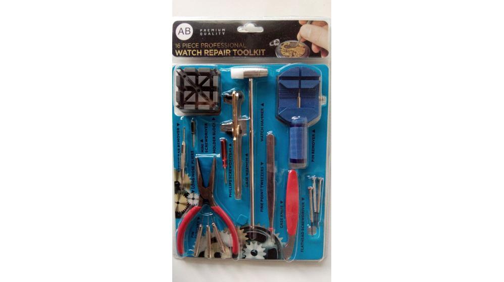 Kit de ferramentas reparação relógios 16 peças